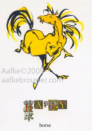 Aafke brouwer horses equine art horses typography imagination funny illustration