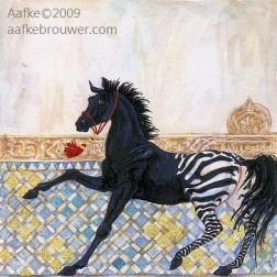 Horses in the Alhambra, dream horse
