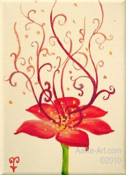 2-februari21 Happy flower painting oils