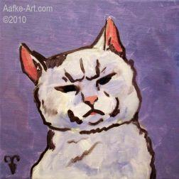 2-februari23 Cat painting oils funny portrait
