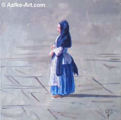 painting Huntington canaletto lady aafke art