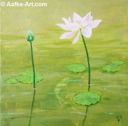painting lotus pasadena huntington aafke art