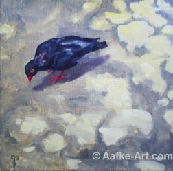 pasadena pidgeon painting aafke art