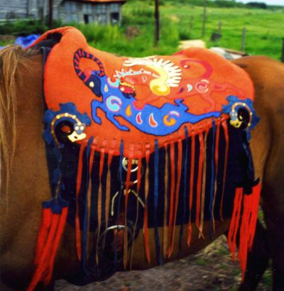 scythian saddle, my own