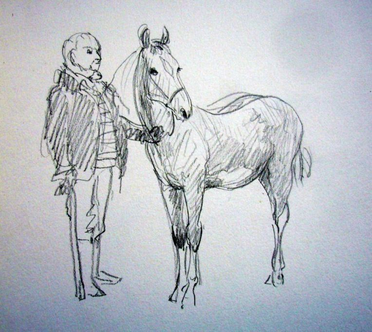 zuidlaardermarkt Horse fair art sketch11