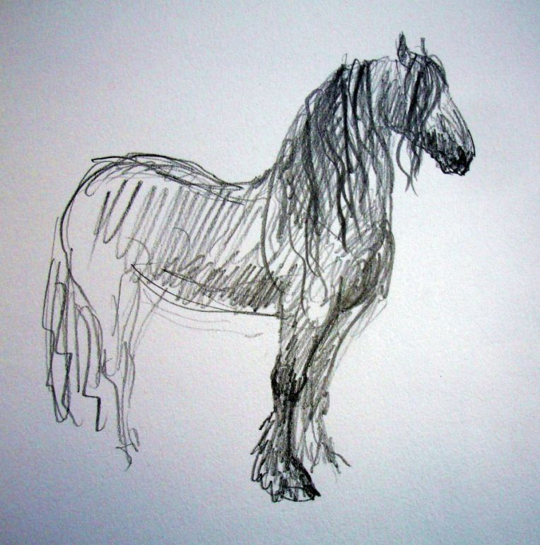zuidlaardermarkt Horse fair art sketch5
