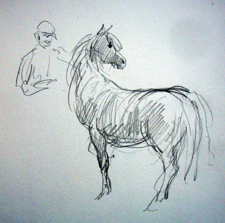 zuidlaardermarkt Horse fair art sketch7