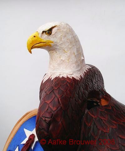 American Eagle head designed by Aafke Art
