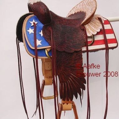 American Eagle saddle Aafke Art design