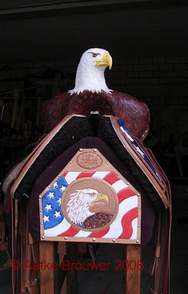 American Eagle saddle design Aafke Art